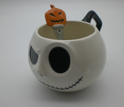 Disney Store Nightmare Before Christmas Jack Skellington mug with spoon
