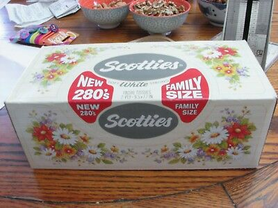 Scotties Facial tissues 280 ct box 1984 new old stock Scott paper Co, Phil. PA