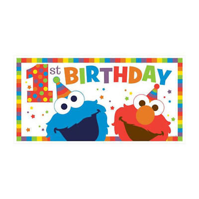 cookie monster sesame birthday banner custom name party backdrop