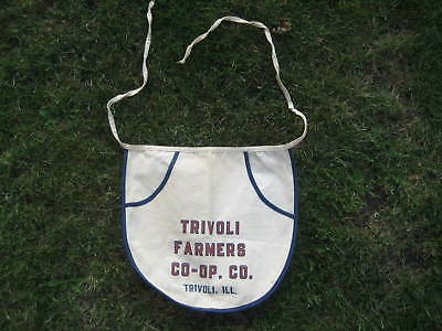 Vintage Trivoli Farmers Co-Op . Co. Nail Apron Sign Trivoli Illinois