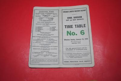 1954 Chicago & North Western Iowa Div ETT #6 VGC-Steam & Diesel Info Included