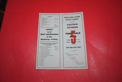 1954 Chicago Great Western Eastern Div ETT #5 MINT -Great Final Years ETT