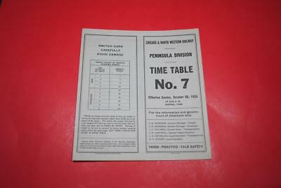 1955 Chicago & North Western Peninsula Div. ETT #7 EXC-Great Midwest Info