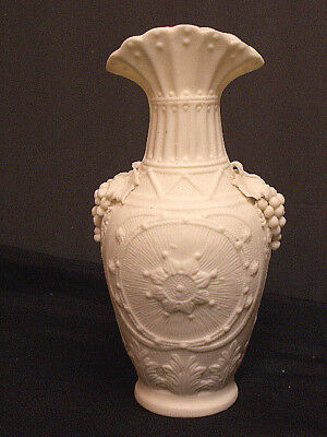 Minton Parian Vase with Sunburst Design/Applied Grapes