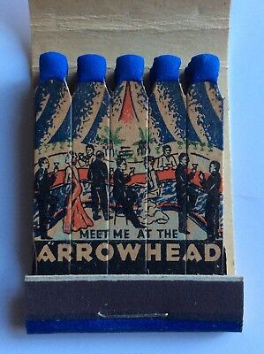 Vtg Feature Matchbook Arrowhead Inn Dick Gasparre And His Orchestra