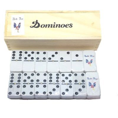 Puerto Rico Flag & Rooster Double Six Dominos Dominoes ** Free Shipping **
