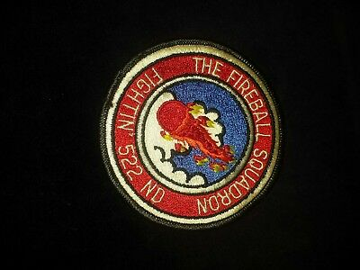 US AIR FORCE MILITARY PATCH FIGHTIN' 522nd THE FIREBALL Squadron USAF