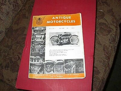 Vintage The Antique Motorcycles Club Magazine fall 1965 vol. 4 no.7,18 pages