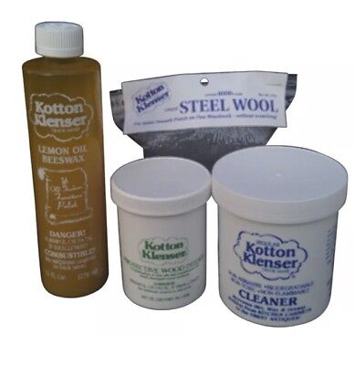 Kotton Klenser Wood Restoration Cleaning Kit Lemon Oil Wood Feeder Cleaner