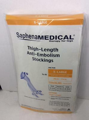 Saphena Medical Anti Embolism Thigh Length Stockings - Extra Large