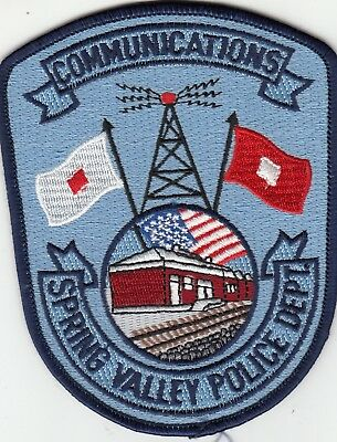 Spring Valley Police Communications Patch Train Depot Ny New York