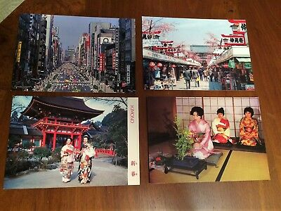 Vintage Japanese Postcards - Lot of 18