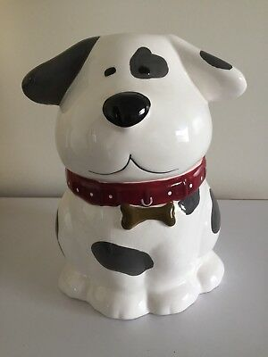 Vintage Retro Large Ceramic Barking Dog Shaped Cookie Biscuit Jar Container