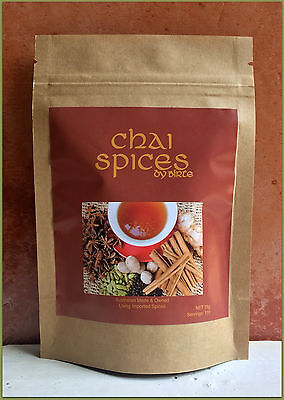 CHAI SPICES - 100% Ground Spices 75g/110 serves of Chai Tea