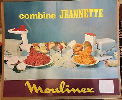 Moulinex combine JEANNETTE Food Grinder Slicer Shreader Made In France