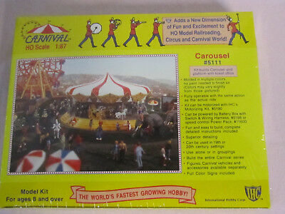 IHC # 5111 HO Scale 1/87 Carousel model kit, new sealed package