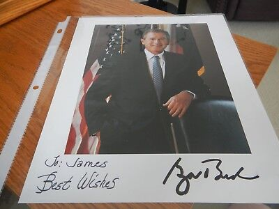 Signed President George W Bush Photograph