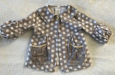 Persnickety Polka Dot Jacket  3Y