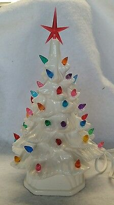Ceramic Christmas White Tree Vintage. New made in USA