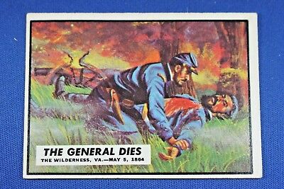 1962 Topps Civil War News - #62 The General Dies - VG/Ex Condition