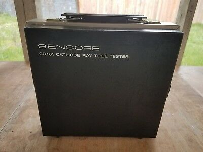 Sencore CR161 Cathode Ray Vacuum Tube Tester (CRT) w/ Case & Manuals VTG