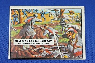 1962 Topps Civil War News - #18 Death To The Enemy - VG/Ex Condition