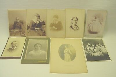 Six Cabinet Card Photographs Plus Three Others.