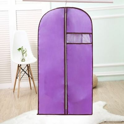 Purple Storage Protect Cover Travel Bag for Garment Dress Clothes Coat Jacket 01