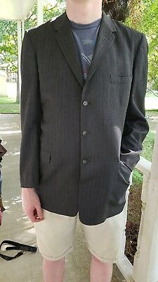 Men's 3 Button Gray VINTAGE 1950's Sportcoat Atwood MADMEN Rockabilly