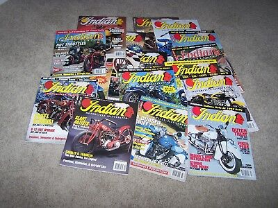 All 16 Vintage Indian Motorcycle Illustrated Magazines 1993 1994 1995 1996 1997