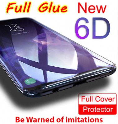 Full Glue Adhesive 6D Tempered Glass For Samsung Galaxy S9 / S9 Plus / Note 9 8