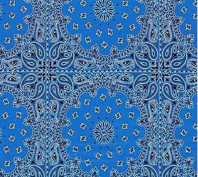 Hydrographic Water Transfer Hydrodipping Film Hydro Dip Blue Bandanna 1M