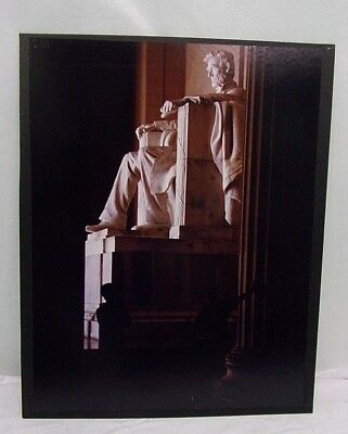 16X20 Original Print Photograph Matted Interior Signed Lincoln Memorial