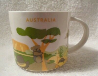 Starbucks Mug Australia You Are Here YAH Koala Kangaroo