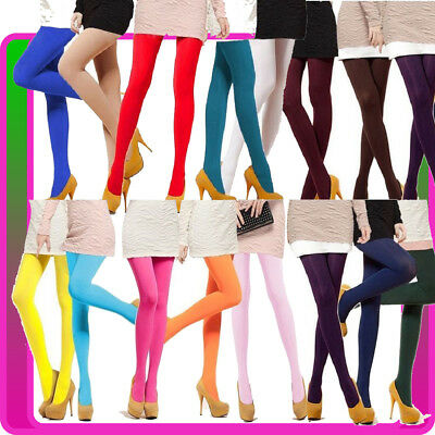 Ladies Party Stockings Dance 80s 70s Costume 1980 Disco Opaque Pantyhose Hosiery