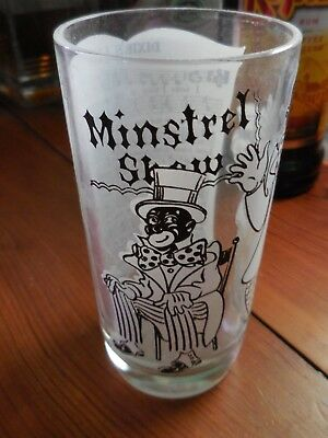 Dixie Minstrels Racist 1950's Iced tea glass