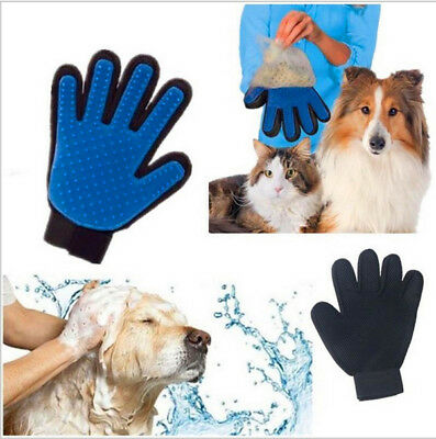 Magic Deshedding Glove Cleaning Brush Glove Rope for Pet Dog Massage Grooming