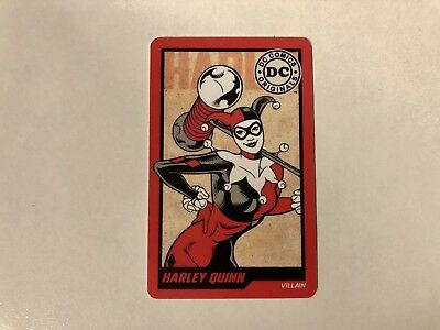 DC Comics Originals Harley Quinn Coin Pusher Arcade Card With Round 1 Barcode