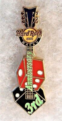 Hard Rock Cafe Macau 3Rd Anniversary Pair Of Dice Guitar Pin # 82835