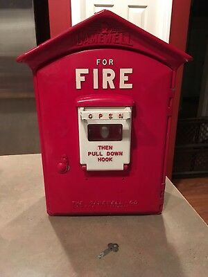 Vintage Gamewell  Fire Department Alarm Station Call Box
