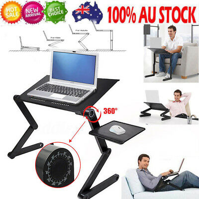 3 in 1 360°Adjustable Folding Laptop Table Lap Desk Bed Computer Tray Stand AU
