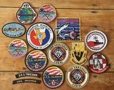 Bulk Lot of 15 US Navy Patches, USN, USS, Submarine, Group, Patch, Sub