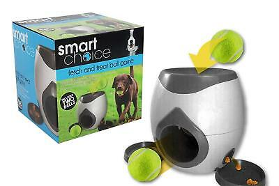 Pet Safe Automatic Tennis Ball Launcher Thrower Dog Indoor/Outdoor Toy + 2 Balls