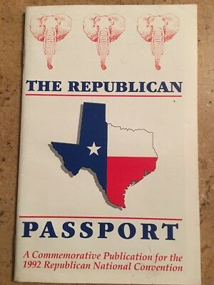 1992 Republican National Convention The Republican Passport Booklet