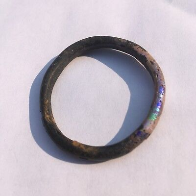 Small Black Glass Nubian Hair Band