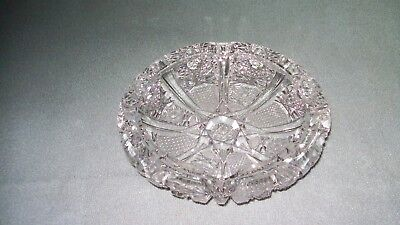 Antique Vintage old stunning  amazing cut glass crystal cigar cigarette ashtray