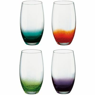 The DRH Glass Collection Anton Studio Fizz Set Of 4 Hiball Tumblers (C1n)