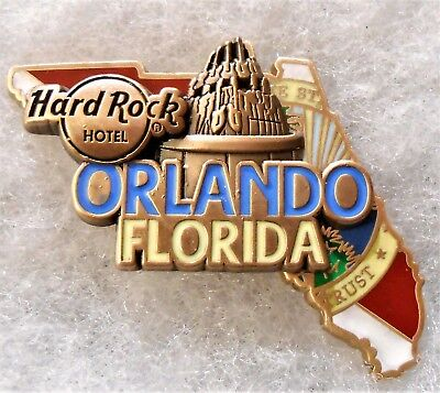 Hard Rock Hotel Orlando Limited Edition 3D World Map Series Pin # 96594