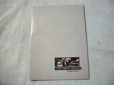 Harley Davidson Abridged Owner's Manual V-Rod  Folding Poster Nice Original