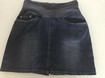 Ninth Moon Denim Maternity Skirt Size 12
